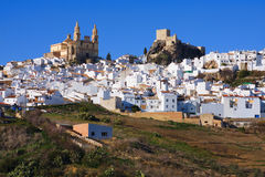 The White Village of Olvera Stock Photography