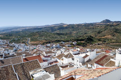 White village of Olvera Royalty Free Stock Photos