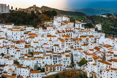 White village pueblo blanco Casares, Andalusia, Spain. Typical andalusian white village pueblo blanco Casares, Andalusia, Spain royalty free stock photo