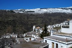 White village rooftops, Bubion, Spain. Royalty Free Stock Photos