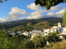 A quiet white Moorish village in Spain Stock Image