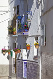 White village street scene, Andalusia, Spain Stock Photo