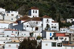 White village, Torvizcon, Andalusia, Spain. Royalty Free Stock Photography
