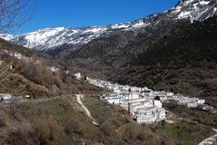 White village, Trevelez, Andalusia, Spain. Royalty Free Stock Photos