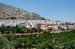 White village, Valle De Abdalajis, Spain. Royalty Free Stock Images