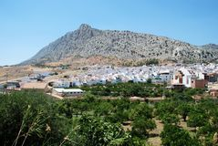 White village, Valle de Abdalajis, Spain. Stock Photography