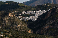 White villages in andalusia Stock Photos