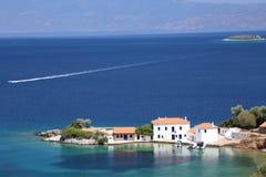 White villas South Pelion Greece Stock Photos