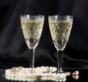 White vine glasses Stock Images