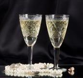White vine glasses Stock Images