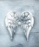 White vintage angels wings Stock Images