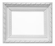 White vintage art frame isolated on white background Stock Photography