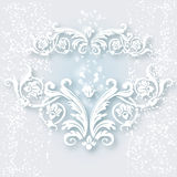 White vintage baroque border Stock Photography