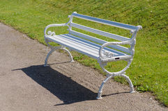 White vintage bench in park Royalty Free Stock Photography
