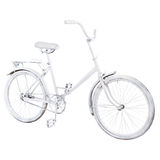 White vintage bike Royalty Free Stock Image