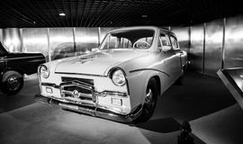 White Vintage Car Grayscale Photo Stock Photography