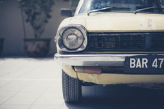 White Vintage Car in Shallow Focus Photography Stock Photography