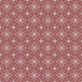 White Vintage Flowers Graphic On Dark Pink Background Pattern. Royalty Free Stock Photography