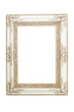 White vintage frame isolated on white background Royalty Free Stock Photo