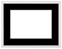 White vintage frame isolated on white. White frame simple design. Royalty Free Stock Image