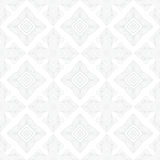 White vintage geometric texture in art deco style. For Christmas and holiday decor or wedding invitation background. Seamless vector pattern for winter fashion Stock Photo