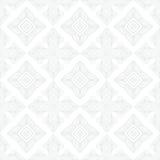 White vintage geometric texture in art deco style Stock Image