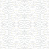 White vintage geometric texture in 1960s style. Hand drawn with silver and gold lines for Christmas and holiday decor or wedding invitation background. Seamless Vector Illustration