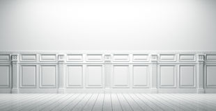 White vintage interior background 3d render Stock Images