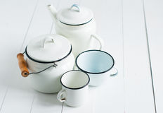 White vintage kitchenware Royalty Free Stock Image
