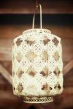 White vintage lace lantern Stock Photo