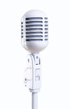 White vintage microphone Stock Images