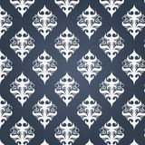 White vintage pattern on a dark background Royalty Free Stock Photo