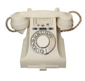 White Vintage Phone Royalty Free Stock Photos