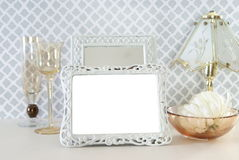 White Vintage Photo Frame Royalty Free Stock Photography