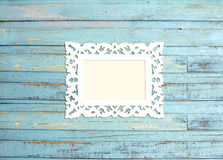 White Vintage picture frame Royalty Free Stock Images