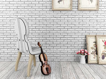 White vintage room and decoration objects royalty free illustration