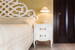 White vintage style nightstand Stock Images