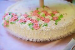 White Vintage Wedding Cake Royalty Free Stock Image