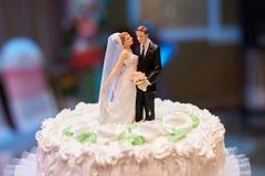 White Vintage Wedding Cake Stock Images