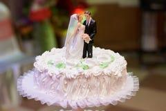 White Vintage Wedding Cake Stock Photos