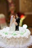 White Vintage Wedding Cake Stock Image
