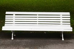 White vintage wooden bench Stock Image