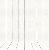 White vintage wooden wall perspective. Royalty Free Stock Images