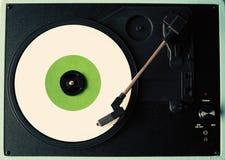 White vinyl record Stock Photos