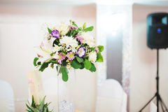 White and Violet Bouquet Stock Images