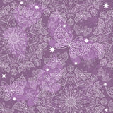 Vintage violet seamless pattern Stock Photography