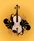 White violin Stock Image
