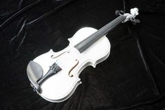 White violin  on black Royalty Free Stock Photography