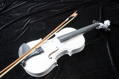 White violin  on black Royalty Free Stock Images