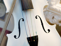 White violin Royalty Free Stock Images